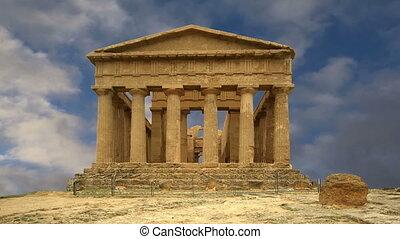 ősi, görög, halánték concordia