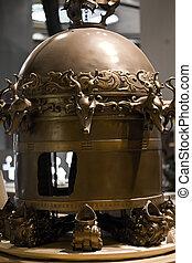 ősi, szeizmográf, kínai