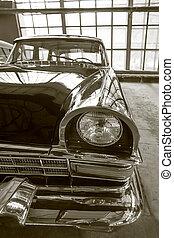 ősi, szovjet-, luxury autó