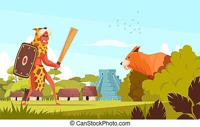ősi, vadász, háttér
