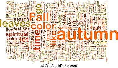 ősz, bukás, wordcloud