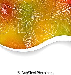 ősz, elvont, vektor, háttér