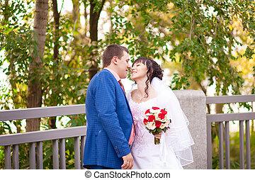 ősz, esküvő, menyasszony inas