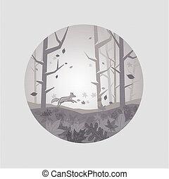ősz festői, kitakarít