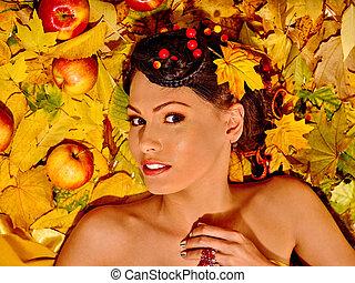 ősz, fruit., woman hatalom