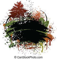 ősz, grunge, tervezés