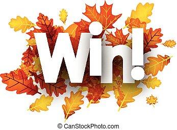 ősz, győz, háttér, noha, leaves.