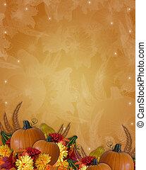 ősz, hálaadás, háttér, bukás