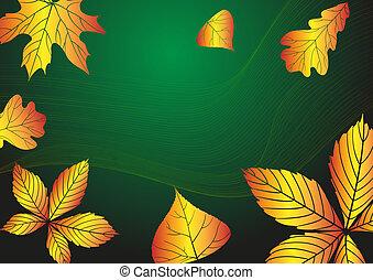 ősz, háttér., elvont
