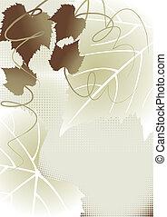 ősz, háttér, gyönyörű, fekete, elágazik, csokor, kézírás,...