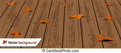 ősz, háttér, helyett, -e, design., vektor, ábra