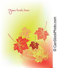 ősz, háttér, vektor