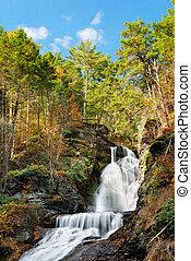 ősz, hegy, vízesés
