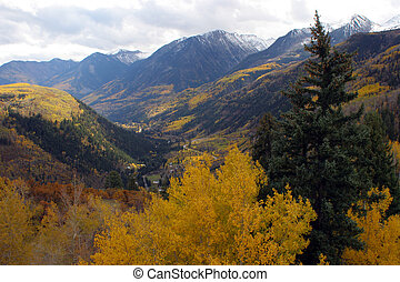ősz, hegyek