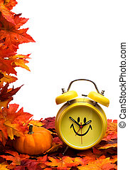 ősz, idő, cserél