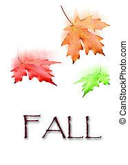 ősz kilépő, esés, bukás