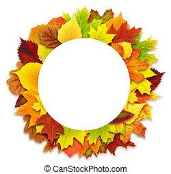 ősz kilépő, határ, kerek