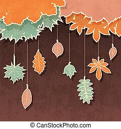 ősz kilépő, retro, háttér
