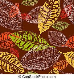 ősz kilépő, seamless, háttér