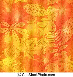 ősz, motívum, fényes, seamless