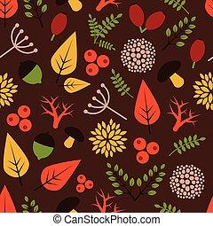 ősz, motívum, téma, seamless