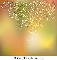 ősz, szüret, vektor, színes, háttér