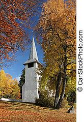 ősz, templom