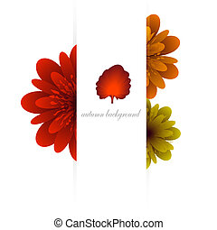 ősz, vektor, háttér