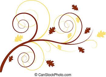 ősz, virágos, háttér