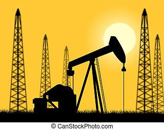 őt előad, olaj, erő, helyesen, forrás, fúrás