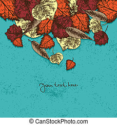 őt lap, háttér, ősz