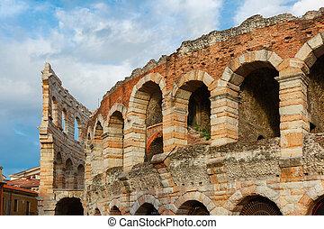 římský, aréna, do, veroňan, itálie