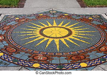 římský, mozaika