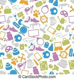 řemeslo, ministerstvo, jednoduchý, vectors, ikona, seamless, model, eps10