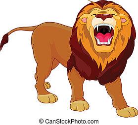 řvoucí, lev