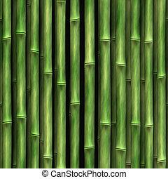 ściana, bambus