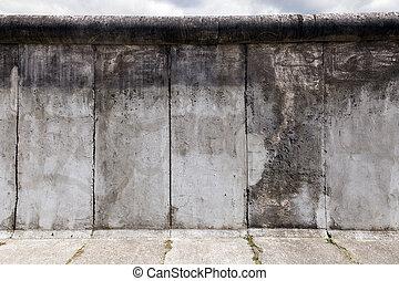 ściana, berlin, east-west, oryginał, sekcja