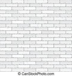 ściana, biała cegła