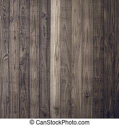 ściana, brązowy, drewno, deska, struktura