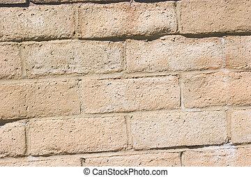 ściana, cegła