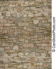 ściana, cegła, zasłona
