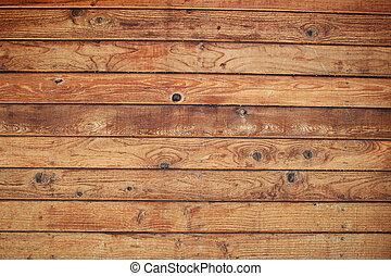 ściana, drewno, deska