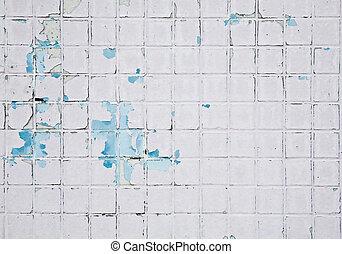 ściana, grunge, mozaika