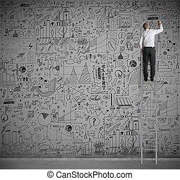ściana, handlowy