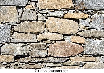 ściana, kamień budowa