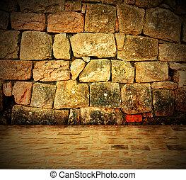 ściana, kamień, tło