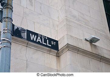ściana, nowy, ulica, york
