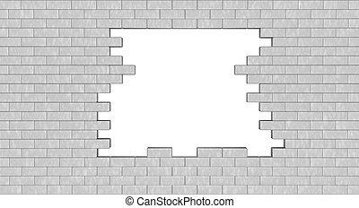 ściana, otwór