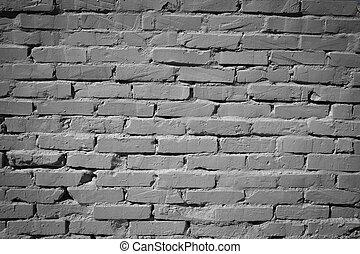 ściana, szary, cegła