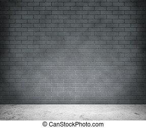 ściana, szary, cegła, tło